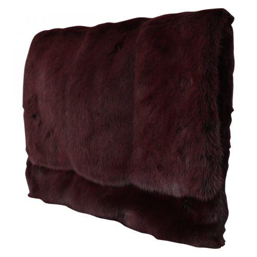 632220 Bordeaux Leather Mink Fur Clutch Handbag 1.jpg