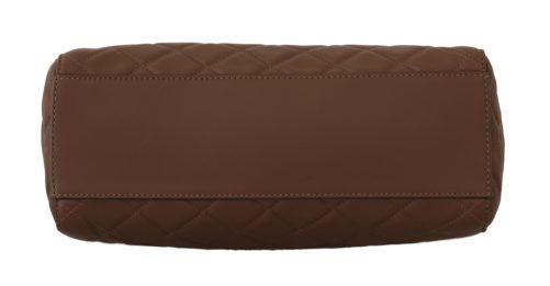 632253 Brown Quilted Leather Hand Shoulder Satchel Purse 2.jpg
