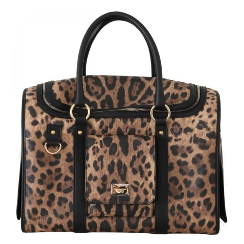 632284 Black Brown Leopard Canvas Shoulder Pet Bag 3.jpg