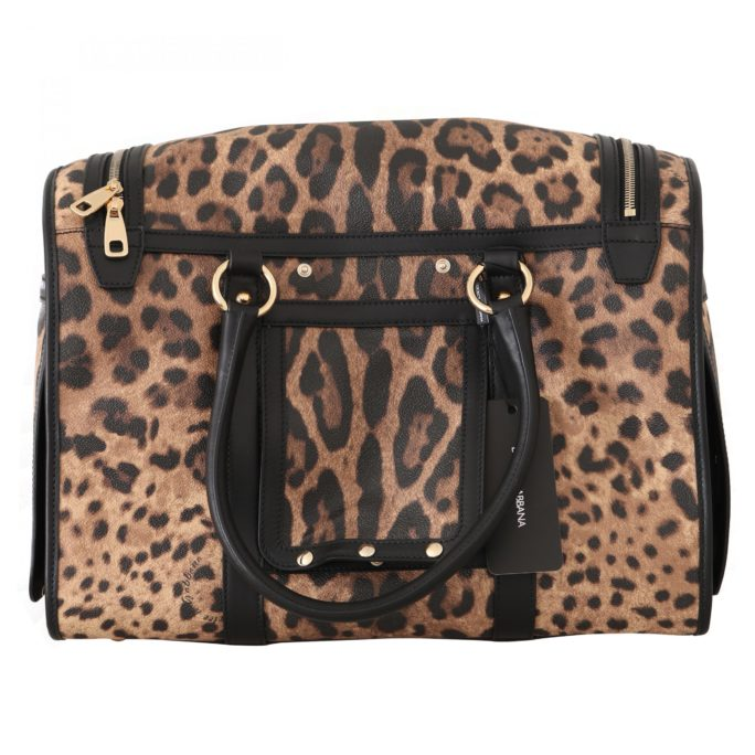 632284 Black Brown Leopard Canvas Shoulder Pet Bag.jpg