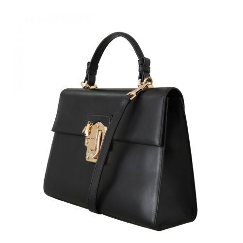 632294 Black Leather Lucia Hand Shoulder Bag 1.jpg