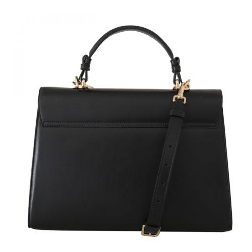 632294 Black Leather Lucia Hand Shoulder Bag 2.jpg