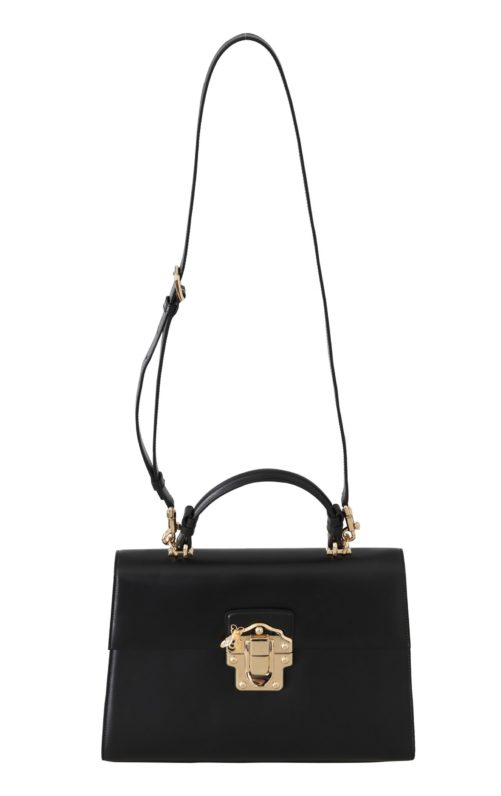 632294 Black Leather Lucia Hand Shoulder Bag 4.jpg