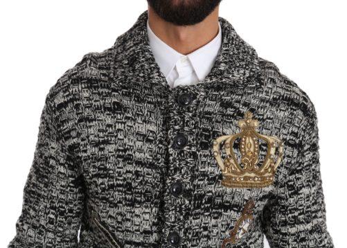 632671 Gray Wool Crystal Sicilian Western Henley Sweater 1.jpg