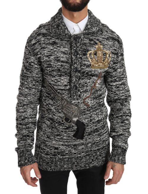 632671 Gray Wool Crystal Sicilian Western Henley Sweater.jpg