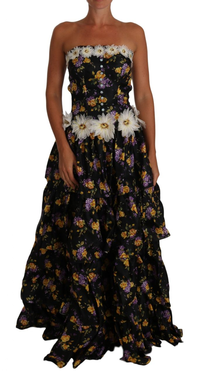 632986 Black Sartoria Ball Floral Rose Crystal Dress 3.jpg