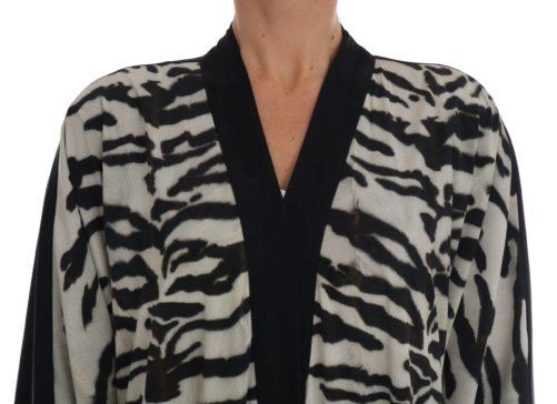 633040 Black Zebra Kaftan Abaya Cape Silk Dress 1 1.jpg