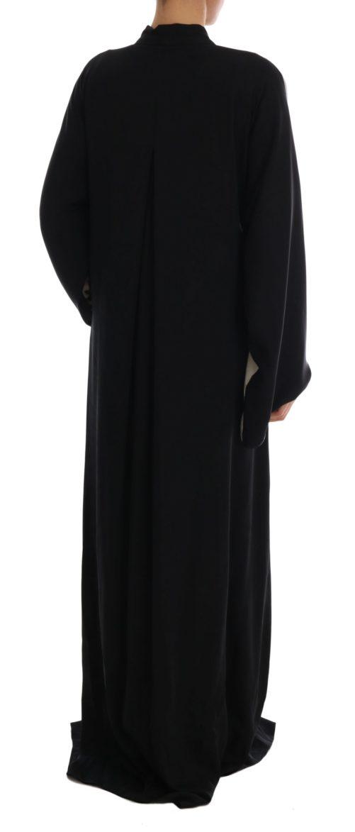 633040 Black Zebra Kaftan Abaya Cape Silk Dress 3 1.jpg