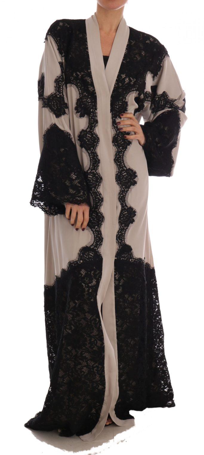 634829 Beige Black Ricamo Kaftan Abaya Dress.jpg