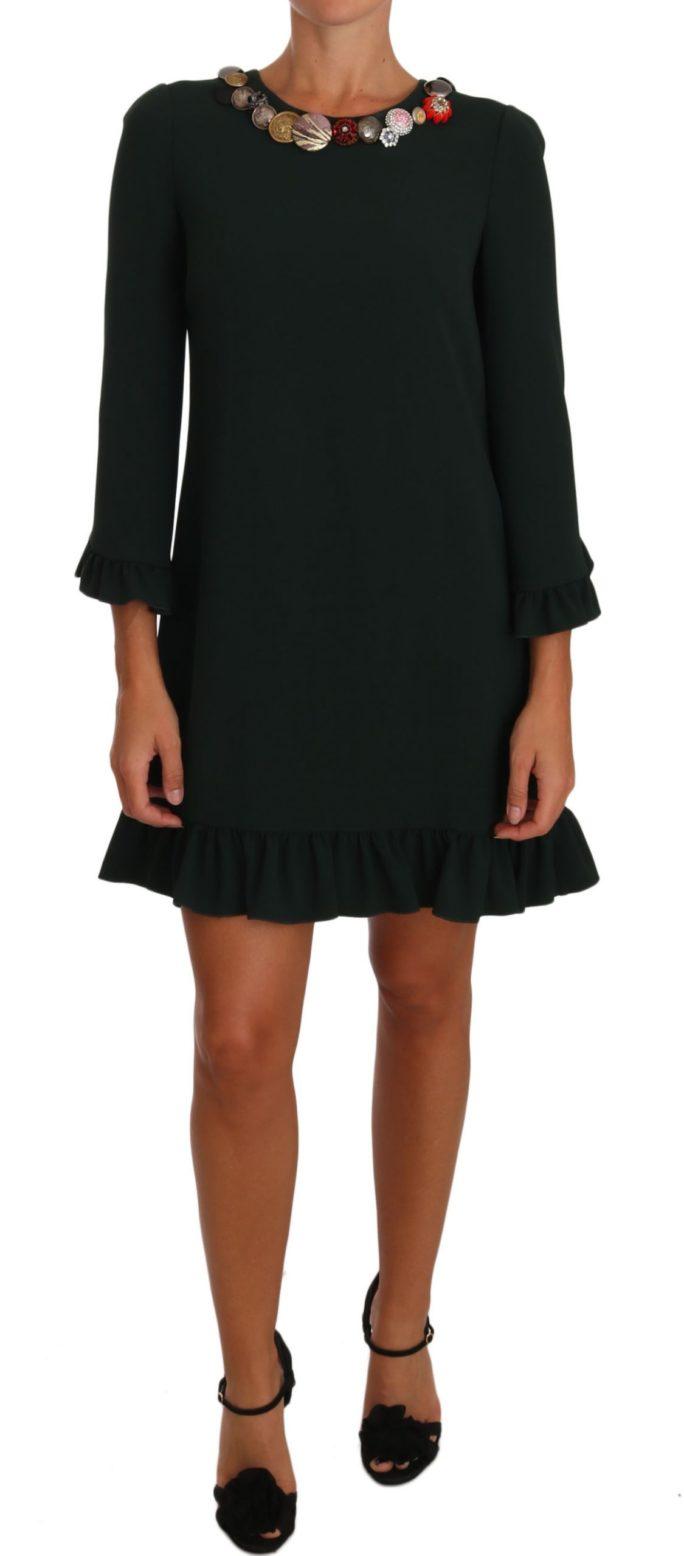 634884 Green Stretch A Line Short Crystal Dress.jpg