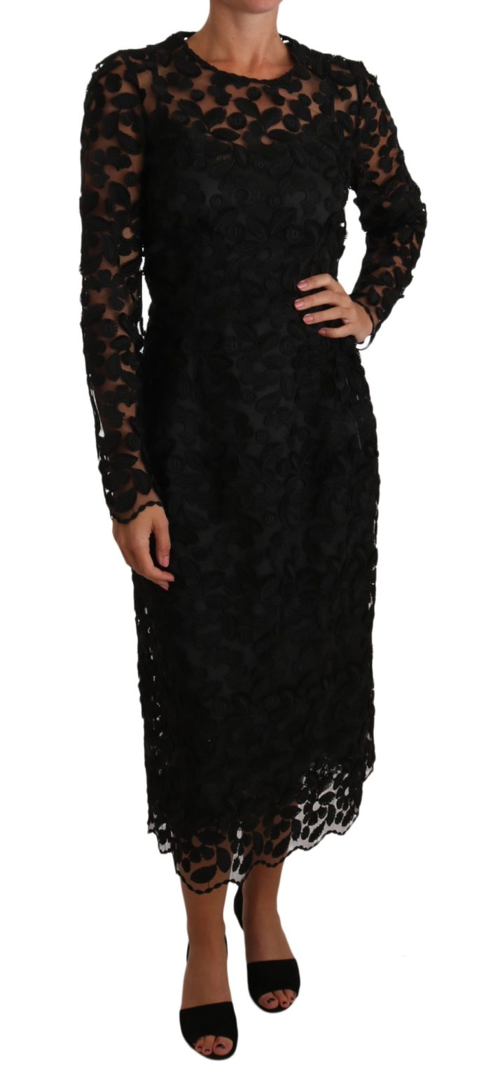 634983 Black Floral Embroidered Midi Lace Dress.jpg