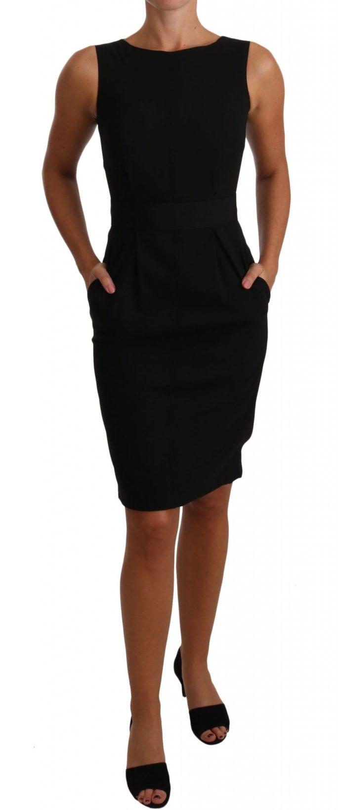 635175 Black Lbd Coctail Pencil Sheath Dress.jpg