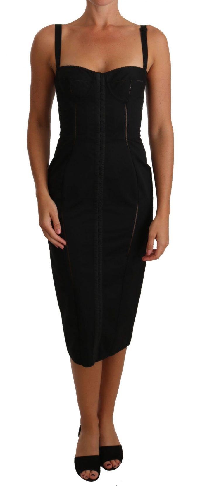 635218 Black Stretch Lbd Coctail Bustier Corset Dress.jpg