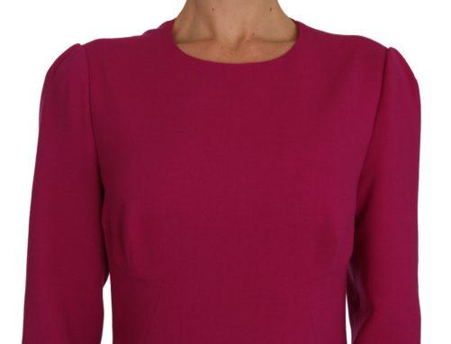 635715 Pink Crepe Sheath Wool Mini Length Dress 1 1.jpg