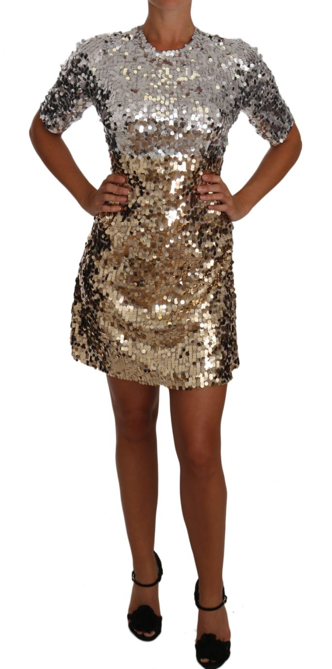 637304 Gold Silver Sequined Sheath Gown Mini Dress.jpg