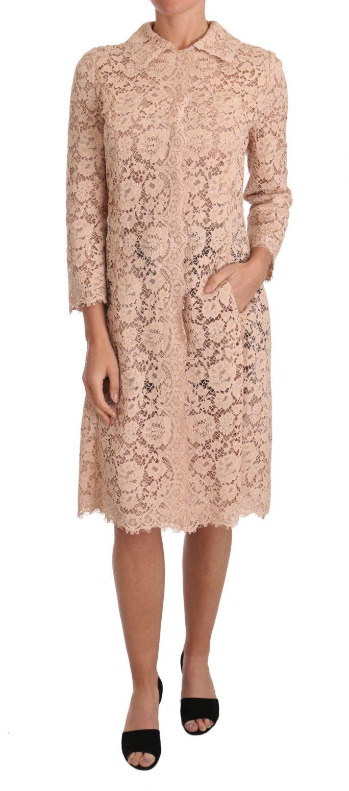 637400 Pink Floral Lace Long Cape Coat.jpg
