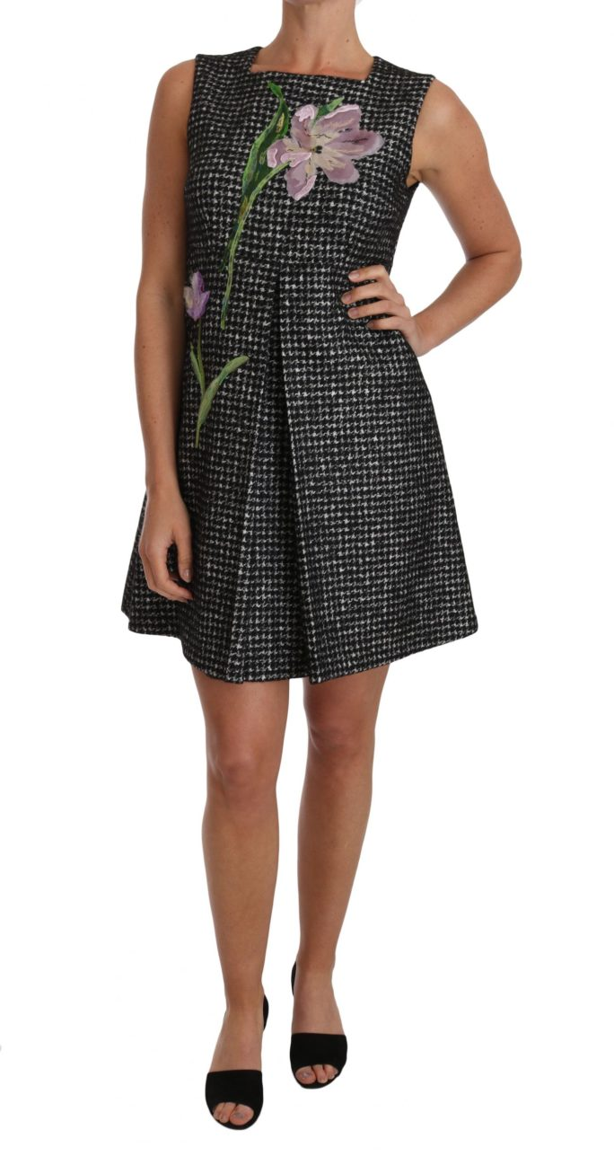 637476 Gray Tulip Embroidered A Line Shift Dress.jpg