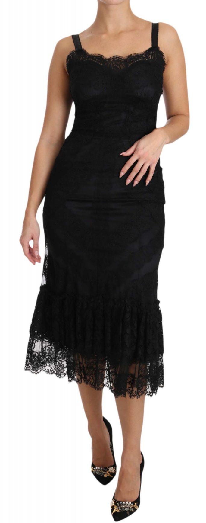 638540 Black Floral Lace Shift Gown Dress.jpg