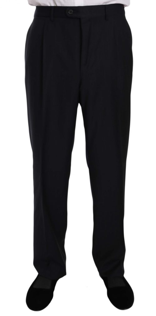 631371 Black Stripe Two Piece 3 Button Wool Suit 4 1.jpg