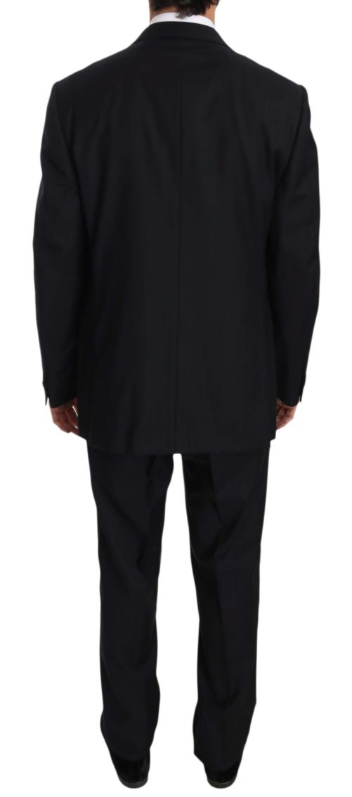 631371 Black Stripe Two Piece 3 Button Wool Suit 4 5.jpg