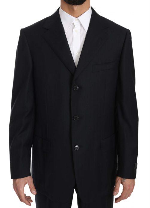 631371 Black Stripe Two Piece 3 Button Wool Suit 4 6.jpg