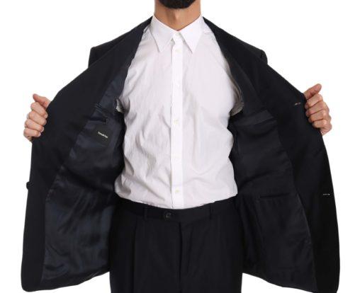 631371 Black Stripe Two Piece 3 Button Wool Suit 4 7.jpg
