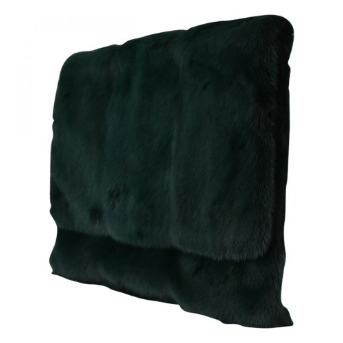 632231 Green Leather Mink Fur Clutch Handbag 2.jpg