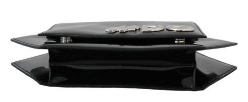 632242 Black Patent Leather Hexagonal Shoulder Purse 2.jpg
