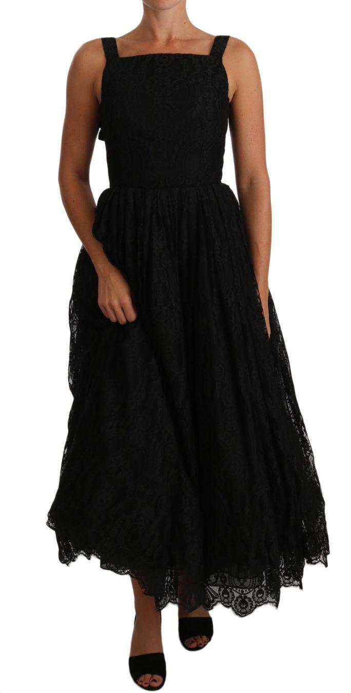 635235 Black Ball Lace Floral Ruffle Bows Dress.jpg