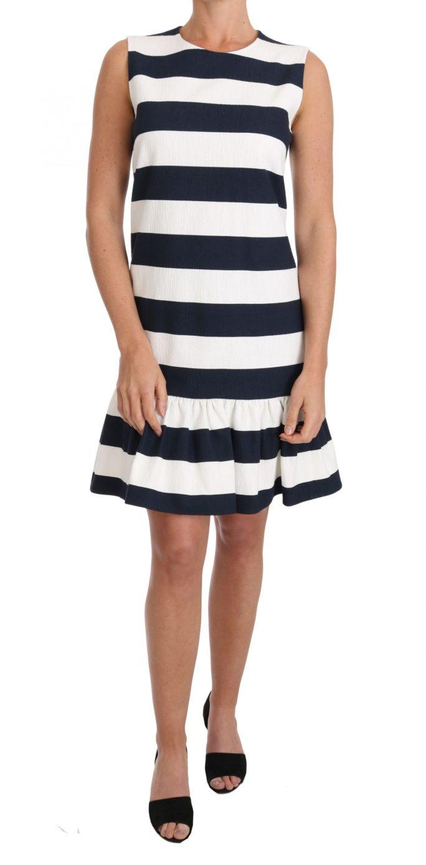637457 Blue White Striped Cotton Stretch Dress.jpg