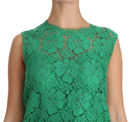 639816 Green Floral Lace Shift A Line Dress 2 1.jpg