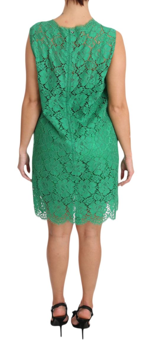 639816 Green Floral Lace Shift A Line Dress 2 5.jpg