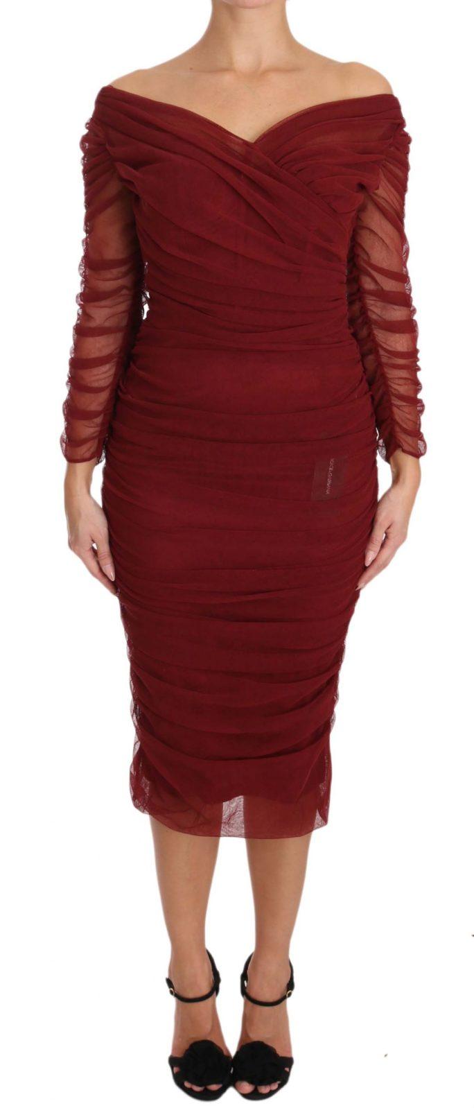 639834 Red Stretch Sheath Bodycon Gown Dress.jpg