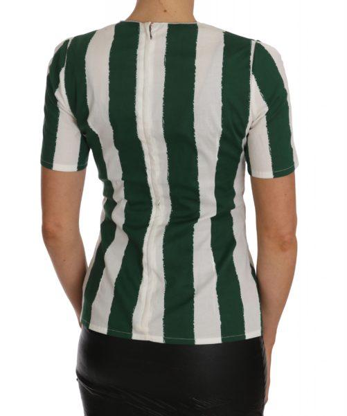 641428 White Green Striped Printed Blouse Top 3.jpg