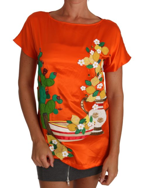 643644 Silk Orange Lemon Crystal T Shirt Top 1.jpg