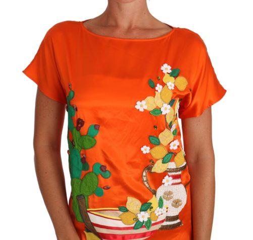 643644 Silk Orange Lemon Crystal T Shirt Top 2.jpg