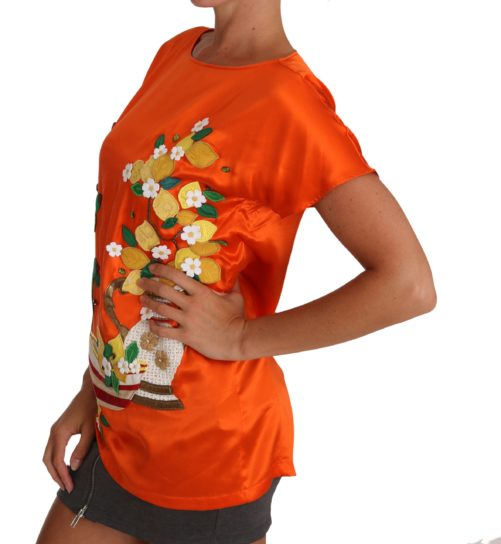 643644 Silk Orange Lemon Crystal T Shirt Top 3.jpg