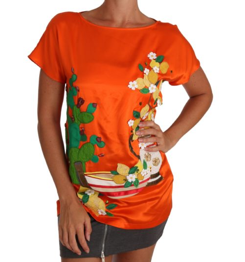 643644 Silk Orange Lemon Crystal T Shirt Top.jpg