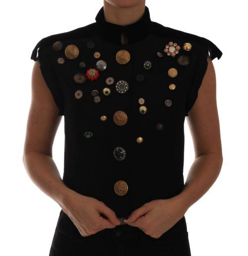 644217 Black Embellished Floral Military Jacket Vest.jpg