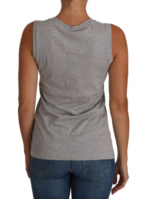 644285 Gray And White Cami Tank Gray Love Cotton Top 1.jpg
