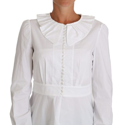 644380 White Fitted Cotton Blouse Stretch Shirt 3.jpg