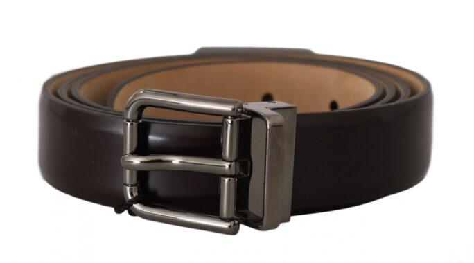 646264 Brown Leather Silver Buckle Belt 11.jpg