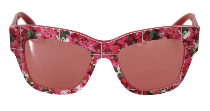 648008 Pink Dg4231 Floral Pattern Butterfly Sunglasses.jpg