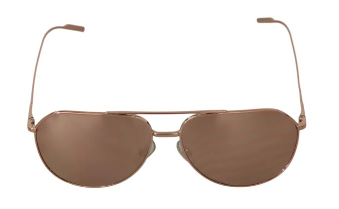 648188 Rose Gold Aviator Dg2166 Pilot Gold Edition Sunglasses.jpg