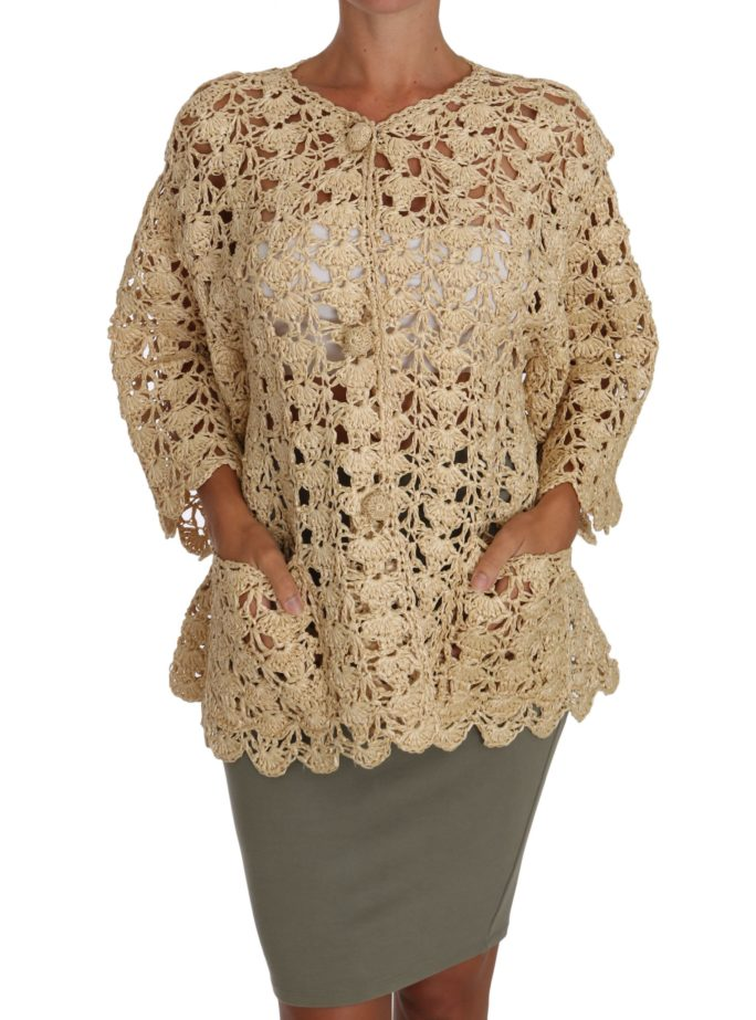 648757 Beige Cardigan Crochet Knitted Raffia Sweater 2.jpg