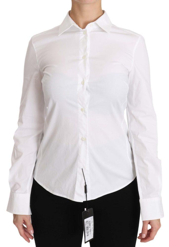 650179 Plain White Cotton Button Down Longsleeve Shirt.jpg