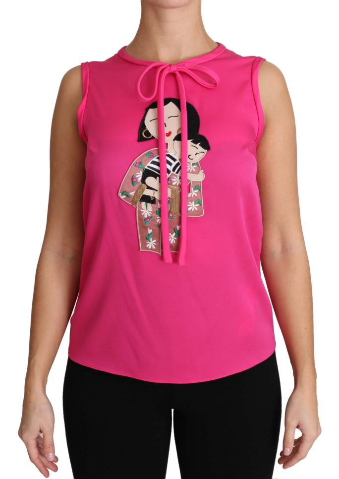 651171 Pink Family Silk Tank Mama Blouse Top Shirt.jpg