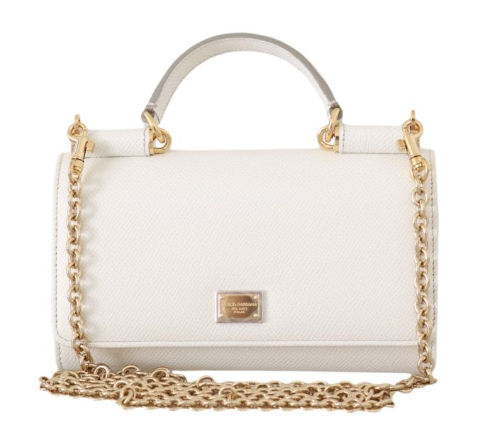 644867 White Dauphine Leather Sicily Von Shoulder Purse.jpg
