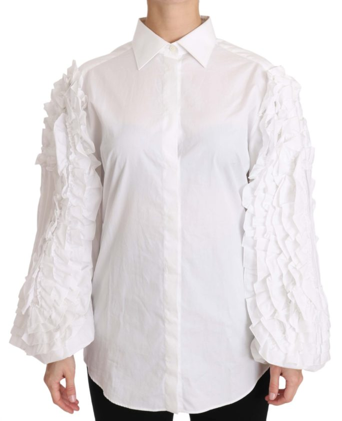 652561 White Ruffled Long Sleeves Top Shirt.jpg