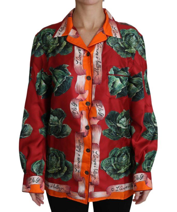 652768 Cabbage Print Shirt Blouse Floral Silk Top Shirt.jpg
